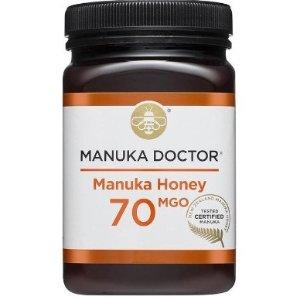 现价£24.99(原价£66.99)  立省£42Manuka Doctor 可以把胃养好的蜂蜜 70 MGO 500g热促
