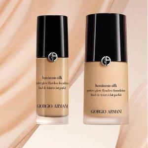 买就送正装红管405(价值$50)Armani Beauty 柔亮自然粉底液 夏日轻薄底妆 高级奶油肌