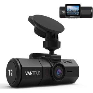 Vantrue T2 1080P 24小时全天候录像 夜视行车记录仪