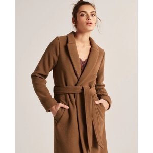 Abercrombie & Fitch混羊毛大衣