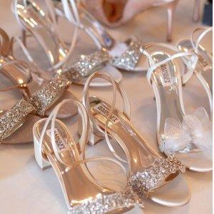 低至6折 闪片平底鞋$177Badgley Mischka 小众仙女鞋 $241收丝缎蝴蝶结一字带