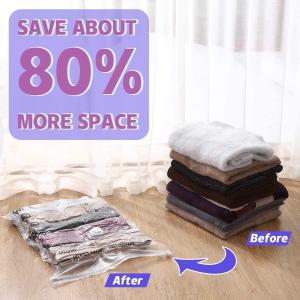 低至€13.99收6个 夏天的衣服该打包啦Amazon 真空压缩精选 节省80%空间 羽绒被、枕头缩体积神器