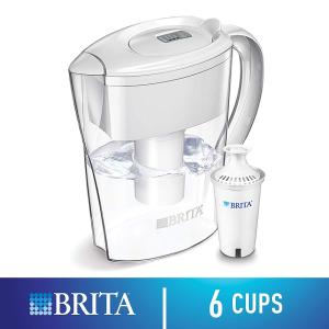 现价$17.77(原价$21.98)Brita 家用滤水壶 6杯量 附赠一个滤芯 健康从喝好水开始