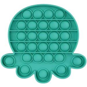 绿色 八爪鱼形硅胶手推玩具