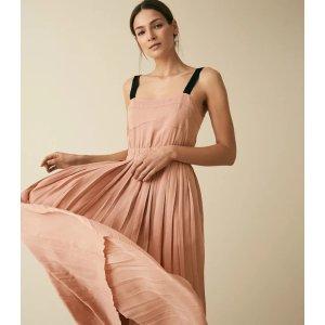 Reiss藕粉连衣裙