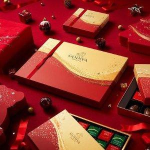 低至2.5折 超值礼盒$3.5起降价:Lindt、Godiva 巧克力礼盒 清仓特惠 缎带礼盒32颗$55.97