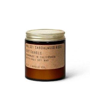 P.F. Candle Co.No. 32  檀香木玫瑰 香氛蜡烛