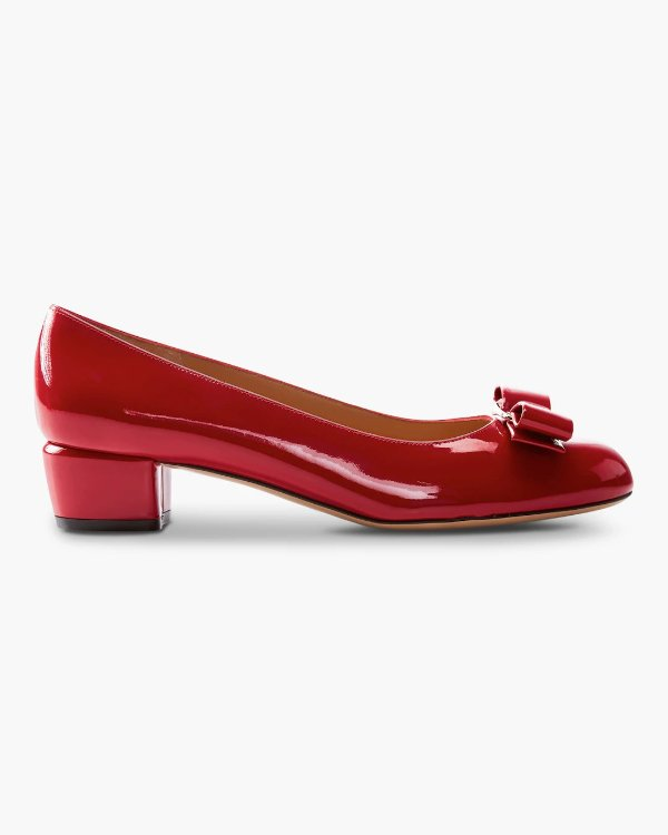 Vara 蝴蝶结粗跟鞋