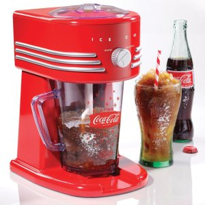 $39.98(原价$59.98)附沙冰做法Nostalgia 可口可乐自动刨冰机 绵绵冰沙 夏日解暑秘方