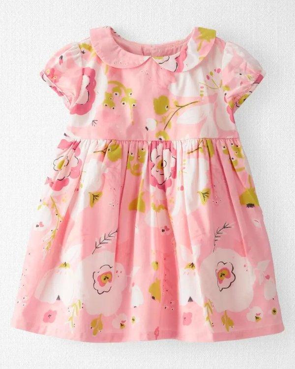 婴儿有机棉印花连衣裙