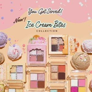 已发售 $9收碎钻四色闪片Colourpop 夏日冰淇淋系列  4色盘碎钻星河 清清爽爽马卡龙色系