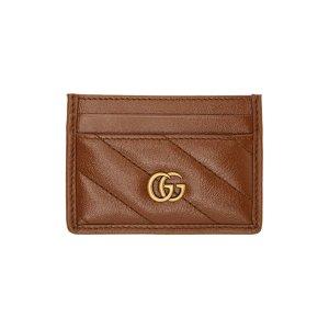 Gucci美国定价$250焦糖色卡包
