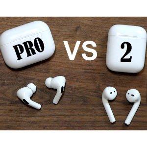 7.2折起 3代上新仅€199苹果耳机怎么选?AirPods 2 与 Pro 全方位比较 一目了然