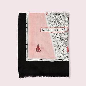 $58.1(Org: $118)New York map oblong scarf @ kate spade