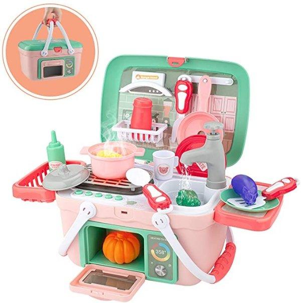 SHAWE 小厨房玩具套装,水龙头真的能出水