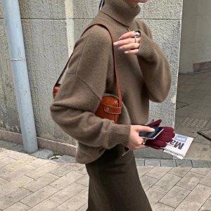 满$149享78折高领羊绒毛衣