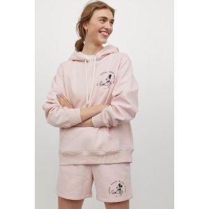 H&M粉色米奇卫衣