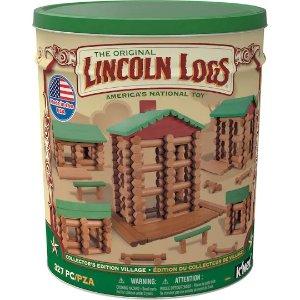 k'nexlincoln logs 木头小屋积木
