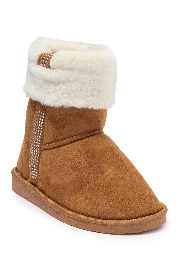 Studded Faux 童款雪地靴