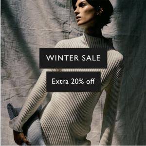 2.4折起!吊带羊毛裙£23折扣升级:COS 冬季大促额外折!最佳简约风大衣、针织开衫最强好价 北欧风速收