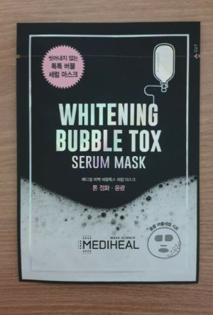 1SHEET MEDIHEAL WHITENING BUBBLE TOX SERUM MASK PACK - NO NEED WASH | eBay