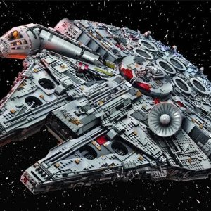 $799.99 + Free Gift + 2X PointsLEGO galaxy in the ultimate Millennium Falcon