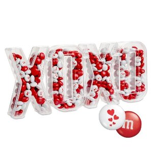 M&M'sXOXO Candy Box with Red & White M&M'S®
