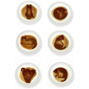 猫型酱油叠6件