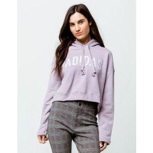 Lavender Womens Crop Hoodie
