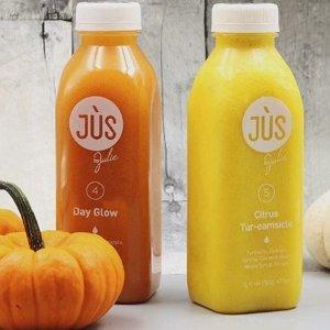 无门槛买一份第二份5折+免邮Jus by Julie 清肠减肥果蔬汁 秋季全场大促
