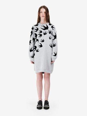 Swallow Signature Sweatshirt Dress  McQ | Sweatshirt Dress |    