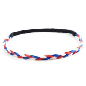 Pixnor Flag Braided Headband Elastic Hair Bands Sport and Fashion Headbands for 2018 World Cup (Blue, White, Red) - Walmart.com