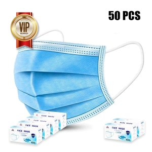 Second day delivery4 Pack (50 pcs each pack) Disposable Mask 3 Layer Protection With Free 2 Pack Disposable Mask 3 Layer