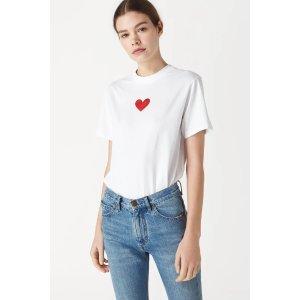 Victoria BeckhamMetallic Heart T-Shirt