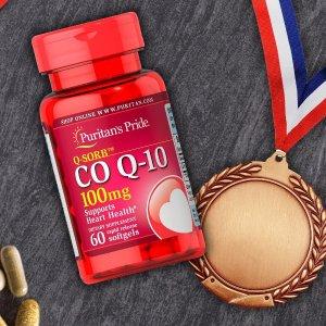 买1送2 + 任意1件额外7折Puritan's Pride 保健品促销 CoQ10辅酶低至$5.3/瓶