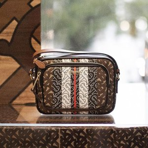 BurberryGet$75 GC or $150 GC with $1000- Small Monogram Stripe Camera Bag