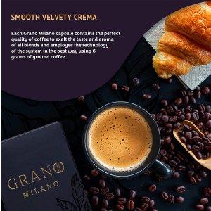 8.3折 每杯仅$0.5Grano Milano 胶囊咖啡 多种口味香醇咖啡 唤醒一天好精神