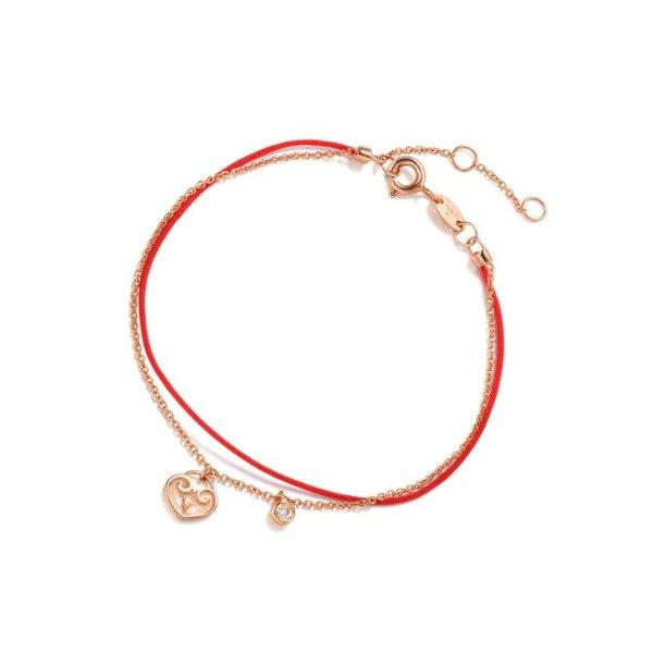 钻石玫瑰金小红绳