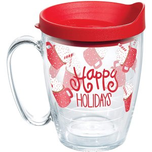 Tervis Happy Everything Made in USA Double Walled Insulated Tumbler, 16oz Mug, Hot Cocoa