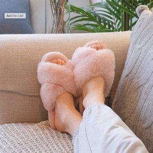 闪购:JIASUQI 敲厚实毛绒拖鞋 脚感一流  多色可选