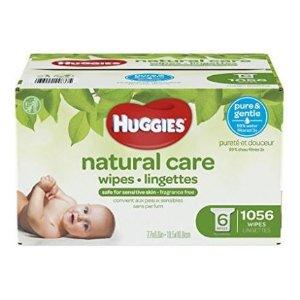 $18.97(原价$30.99)Huggies Natural Care 温和配方无香型婴儿湿巾 1056张