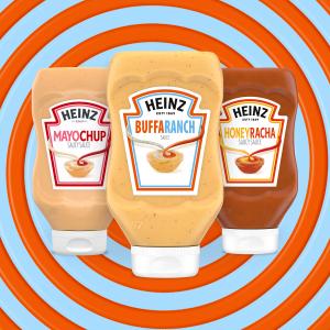 each $2.98New Release:Heinz Buffaranch、Mayochup、Honeyracha Sauce