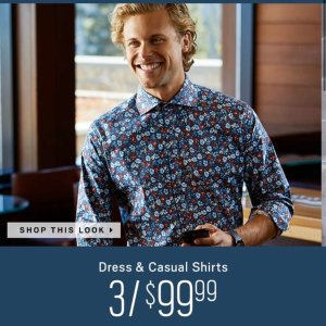 3 For $99Men's wearhouse Shirts Sale