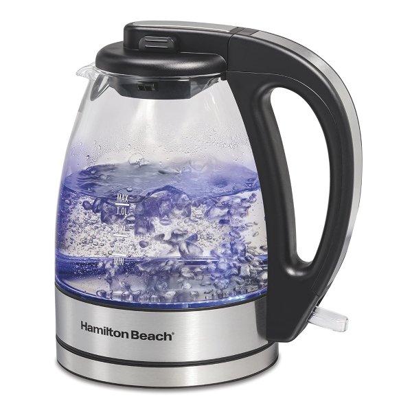 Hamilton Beach 玻璃电热水壶 1L