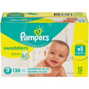 Pampers Swaddlers Diapers Size 3, 136 Count - Walmart.com
