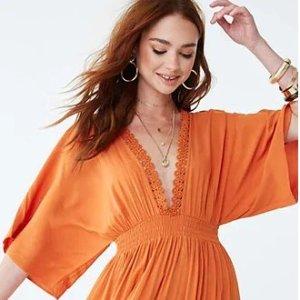 最高满额享7折Forever 21 春季新品上线 约会美裙超值入