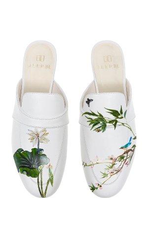 White Lotus Mule 手绘穆勒鞋