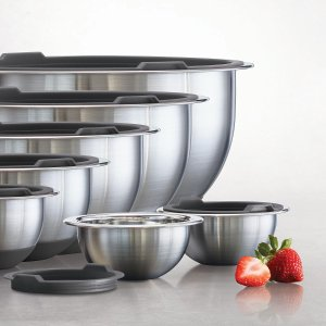 Tramontina 14-Piece Covered Stainless-Steel Mixing Bowl