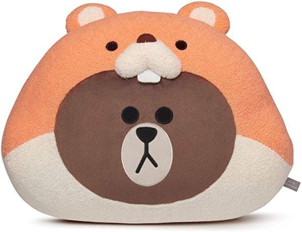布朗熊抱枕