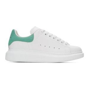 Alexander McQueen定价$650Ssense专享 绿尾小白鞋